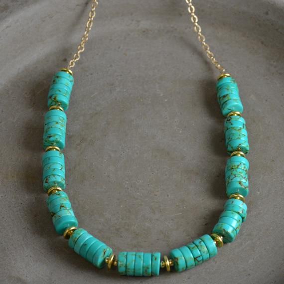 Turquoise Heishi Necklace