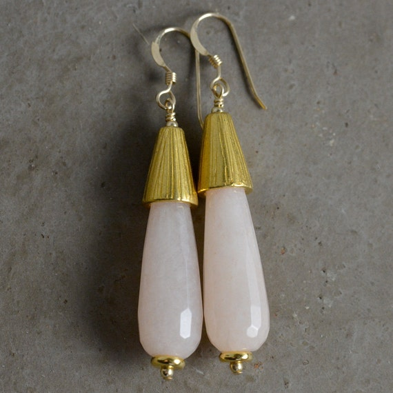 Annabelle Earrings in Blush by Catherine Nicole