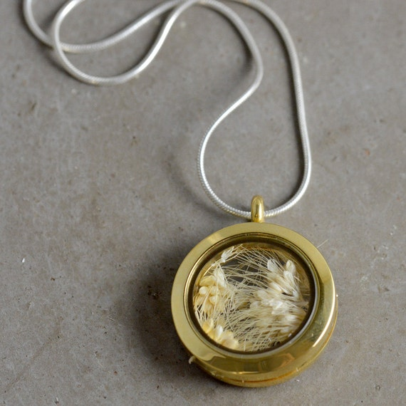 Glass Keepsake Locket (Customize your length and color)