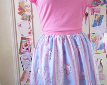 Hello Kitty dress, womens clothing fairy kei sweet lolita Sanrio size XL extra large