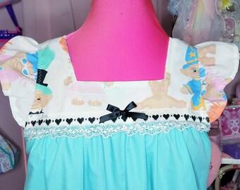 Treasure Trolls dress, retro nightie, drag queen, loungewear, fairy spank kei, 80s clothing women, vaporwave aesthetic, size S small