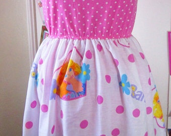 Barbie dress, 80s 90s pink heart womens clothing fairy kei sweet lolita size medium M