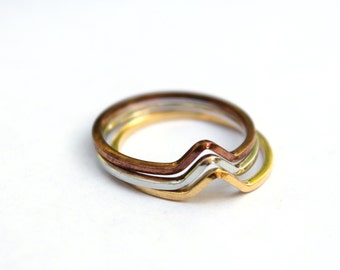 SILVER ONLY - Vintage stacking rings size 7 (3)
