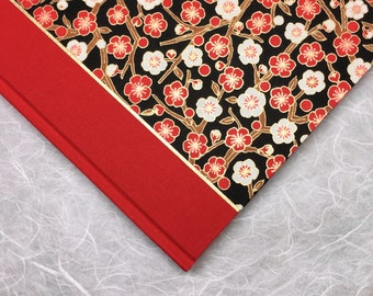 Red Spring Blossom Journal or Sketchbook -  Perfect for Notebook, Diary or Writing Book with lined or blank pages