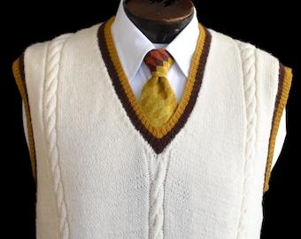 b93d0be4bdee6a Vintage 20s 30s Style Mens Sweater Vest
