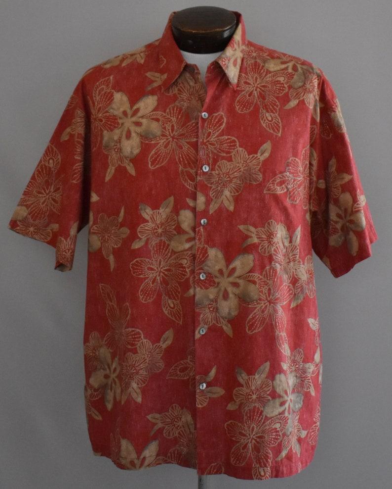 1966beb2c Tori Richard Mens Shirt Vintage 90s Tropical Flower Print | Etsy