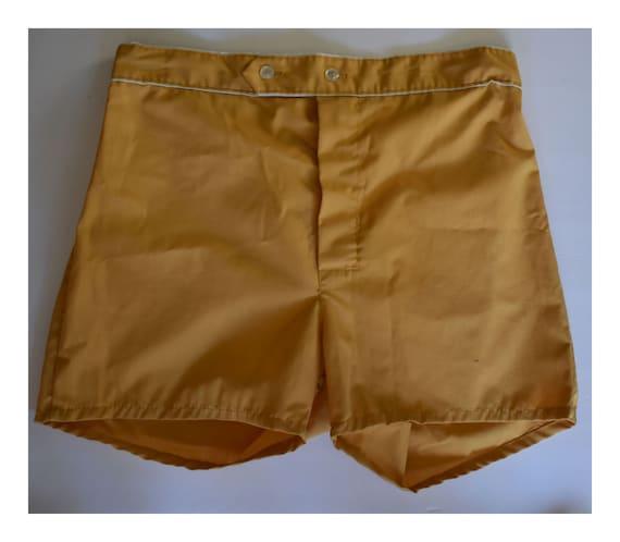 Mod Mens Shorts, Vintage 70s Men's Lightweight Cot