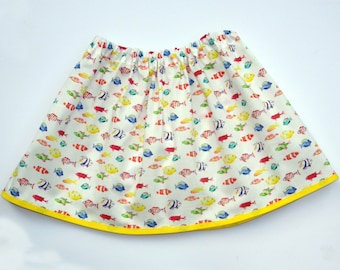 Girl's Fish Skirt, Girls Clothing, Fish Clothing, Toddler Clothing, Skirts for Girls, Gift for Girls