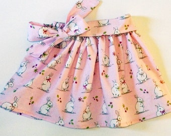 Girl's Rabbit Skirt, Easter Clothing, Girls Clothing, Easter Outfit, Toddler Clothing, Skirts for Girls