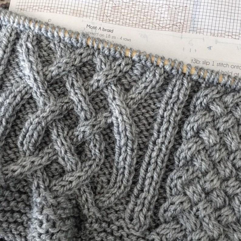 Celtic Blanket KNITTING PATTERN Baby blanket Afghan   Etsy