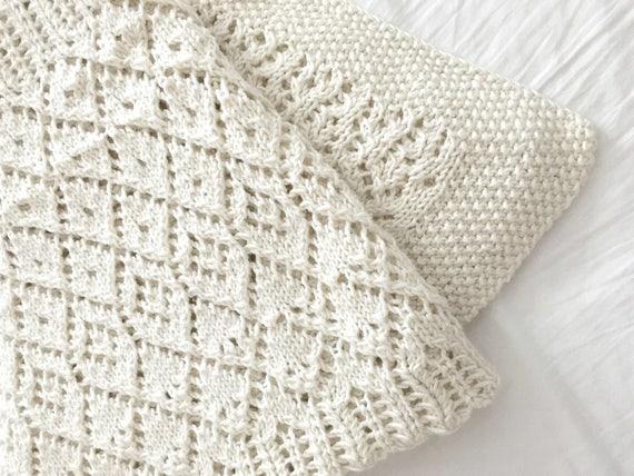 Lace Blanket Vintage Style Blanket Pdf Knitting Pattern Etsy