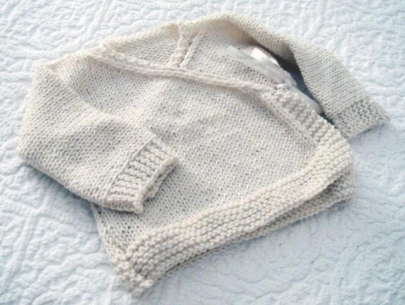 Baby Kimono Jacket Baby Wrap Cardigan Pdf Knitting Pattern Etsy