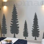 Pine Tree Wall Decal - Pine Forest Wall Art - Vinyl Christmas Tree Sticker Home Decor  - K374