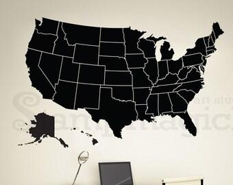 Chalkboard Map Etsy