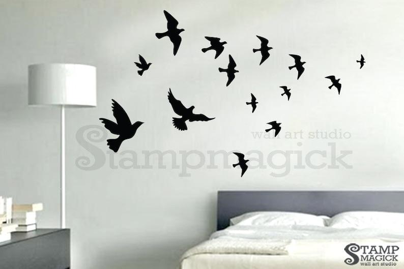 Flying Birds Wall Decal  flying sea gulls decal wall decor image 0
