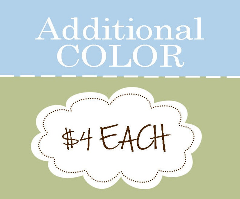 Additional Color Charge for Wall Decal Order image 0