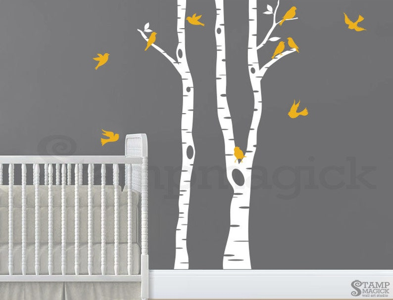 Birch Trees Wall Decal for Nursery or Baby's Room  birch image 0