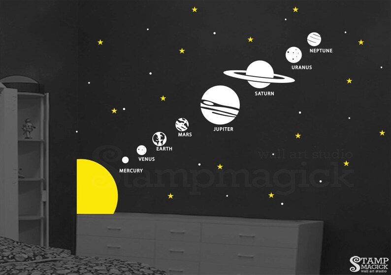 Planets Wall Decal  Planets Decal  Outer Space Solar System image 0