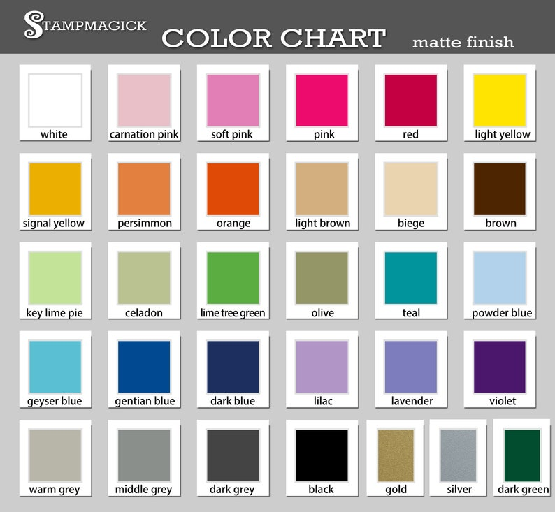Vinyl Decal Samples in 6 Colors of Your Choice from Our Color image 0