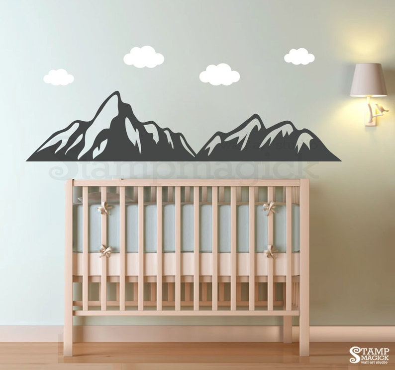 Mountains Wall Decal for Baby Nursery  Mountain Range Wall image 0