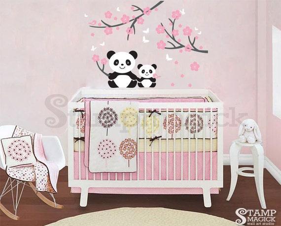 Sticker mural panda pour chambre de b b sticker panda etsy Chambre bebe panda