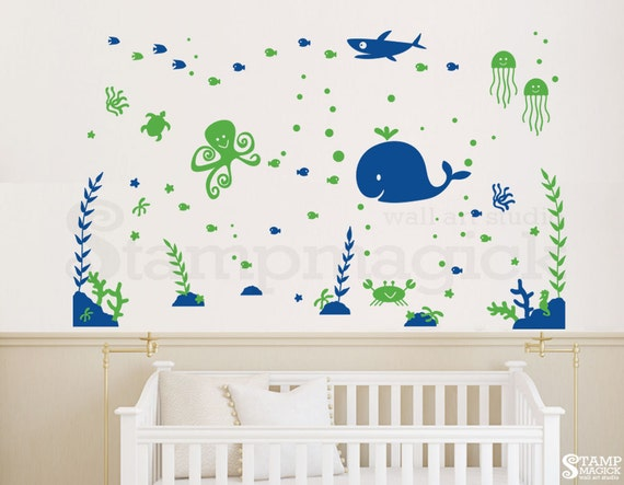 K344 Elephants Decal Flowers /& Baby Name Nursery Wall Decor Elephants Wall Decal Elephant Wall Art vinyl sticker girl bedroom