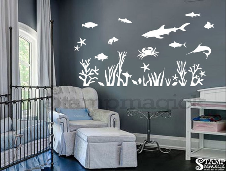 Underwater Wall Decal for Nursery or Baby's Room  Under image 0