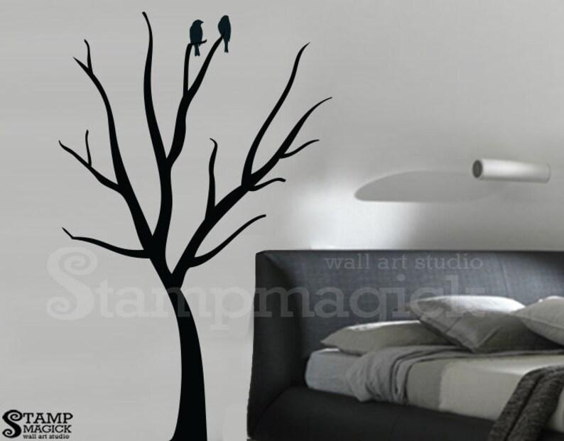 eff750eced06 Bare Tree Wall Decal Winter Tree Wall Decor Graphics Vinyl   Etsy