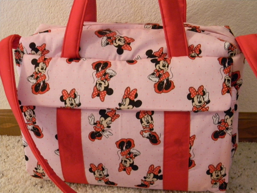 Minnie Mouse Diaper Bag With Changing Pad By Emijane Etsy