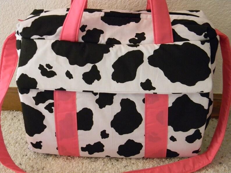 Cow print Diaper Bag wchange pad by EMIJANE