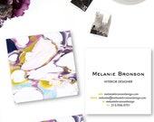 Bold Ultra Violet Marble Calling Cards   Business Cards   Blogger Cards   Set (50)