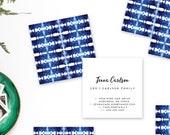 Shibori Striped Calling Cards   Business Cards   Blogger Cards   Set (50)