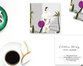GLOW GIRL Abstract Art Calling Cards   Business Cards   Blogger Cards   Set (50)