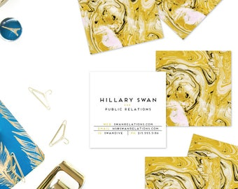 Gold Marble Calling Cards | Business Cards | Blogger Cards | Set (50)