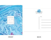 SOMETHING EPIC TODAY Blue + Fuschia Marble Postcards - 10
