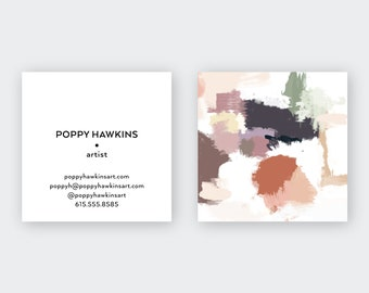 Desert I Abstract Plums Calling Cards   Business Cards   Blogger Cards   Set (50)