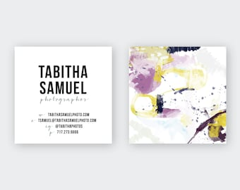 Abstract Purple Gold Yellow #30 Calling Cards   Business Cards   Blogger Cards   Set (50)