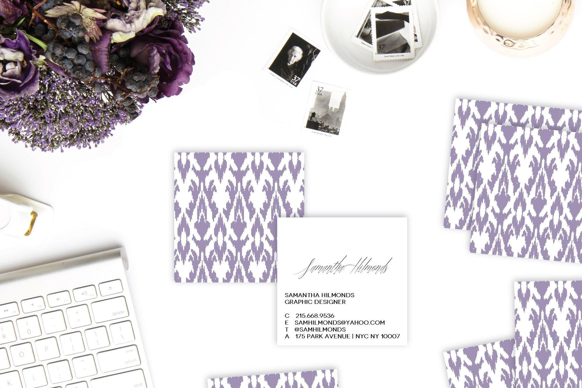 Ikat Calling Cards / Business Cards / Blogger Cards - Set (50)