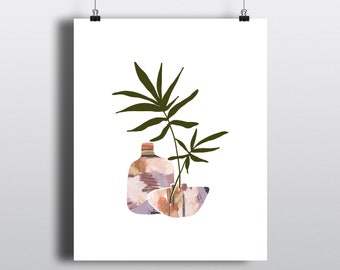 Art Print Adobe Vases 8x10