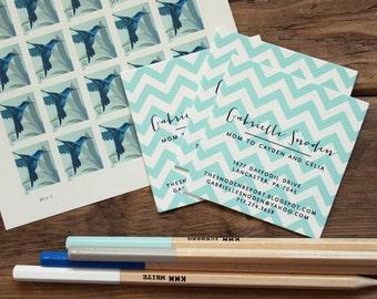 Chevron Calling Cards - Set (50)