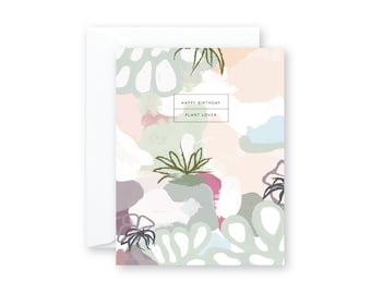PLANT LOVER Birthday Abstract Greeting Card