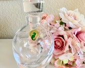 Waterford Crystal Perfume Bottle with Stopper Siren Pattern Wedding Bridal Shower Mother 39 s Day Signed TYCAALAK
