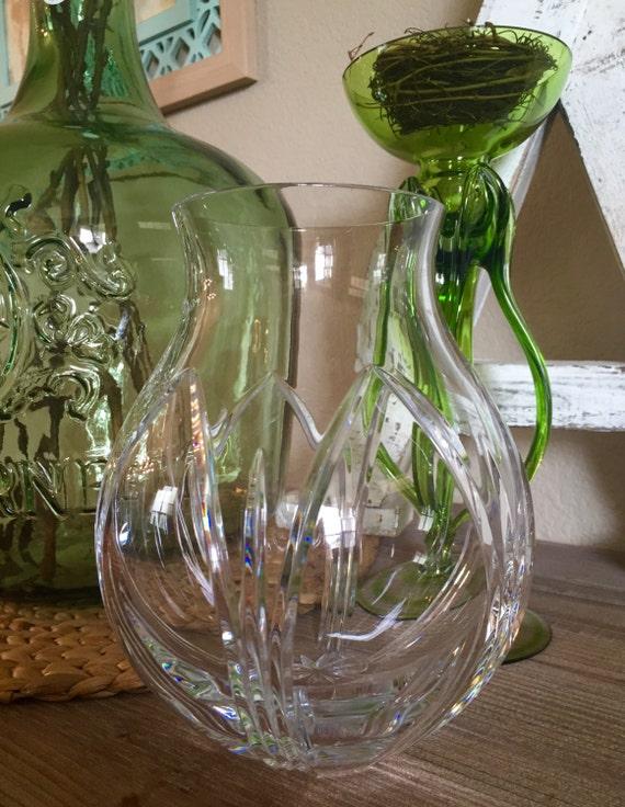 Stunning Atlantis Crystal Vase Flower Vase Farmhouse Chic Etsy