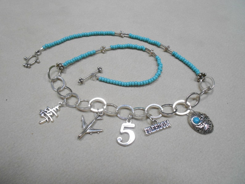Numerology Life Path Number 5 Charm Necklace