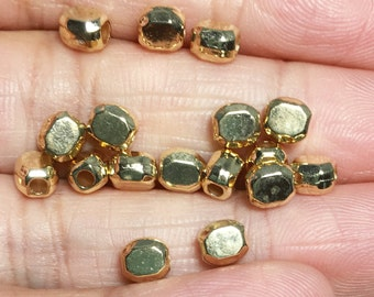 Bulk 500 pcs gold plated smooth polygon spacer beads 5x4mm,  metal spacer beads