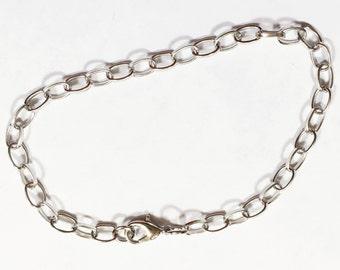 12 or 72 BULK pcs Silver Plated Bracelet Base SL036 Premade Bracelet-US Seller