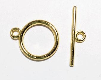 50 sets  Gold tone smooth Toggle clasps bulk toggle clasp