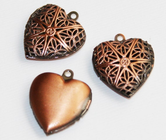 Heart Charms Antique Bronze 16X25mm CM1251B up to 16 pcs Filigree Heart Drop pendant beads