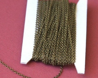 10ft  Antiqued Brass Chain round cable chain 2X1.5mm