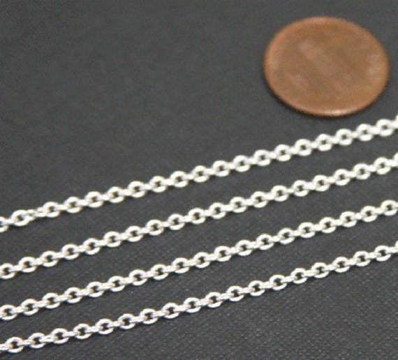 10ft of Antiqued Silver Plated Round Cable Chain 4x5mm